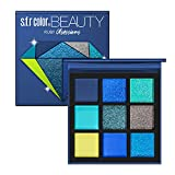 GL-Turelifes Pressed Eyeshadow Palette- Nine Eye Shades - Glitter and Matte Professional Eye Shadow Kit (#2 SAPPHIRE)