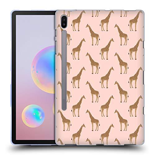 Head Case Designs Offizielle Charlotte Winter Giraffe Rouge Tiermuster Soft Gel Huelle kompatibel mit Samsung Galaxy Tab S6 (2019)