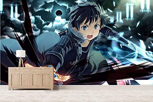 wywyet 3D Anime Tapeten Drucken Sword Art Online Cosplay Wandgemälde Wohnzimmer Wohnung Dekoration Moderne Wanddeko Wallpaper,250cmx175cm(W×H)
