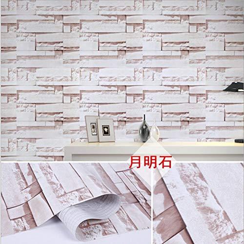 Antiek zelfklevend behang van de baksteensteenbaksteen grijze baksteengeel-baksteenbehang van retro witte baksteen 0.45m*9.8m champagne