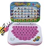 Juguete para computadora portátil para niños, tableta educativa para aprender idiomas, alfabeto y más, computadora portátil de aprendizaje inteligente para bebés mayores de 3 años.