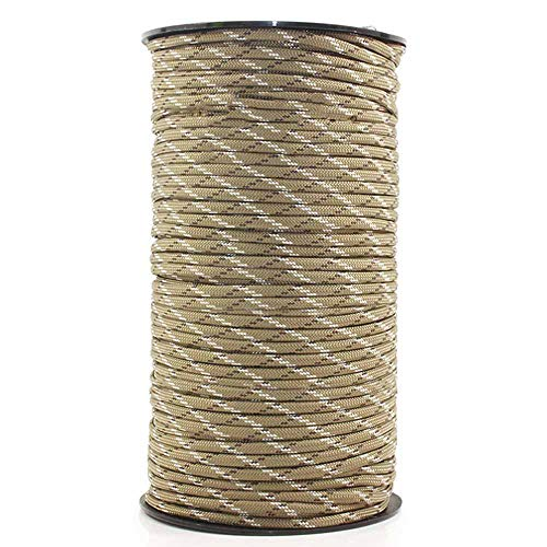 TOPVORK Parachute Paracord, Roll 7 Strand Core Parachute Cord Polypropylene and Polyester 100M Paracord Rope 4mm Outdoor Parachute Cord Survival Umbrella Tent Lanyard Strap