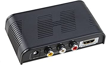 AGPtek LKV363 Mini AV Composite AV CVBS 3RCA Video Audio to HDMI Converter Box HD 720p 1080p Upscaler
