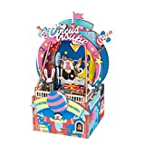 Rolife Dream Hand Crank Music Box with Inner Machine-3D Wooden Puzzle DIY Assemble Toys-Creative Gift for Christmas/Birthday/Valentine's Day for Kids Children Girl Friends (Circus Monkey)