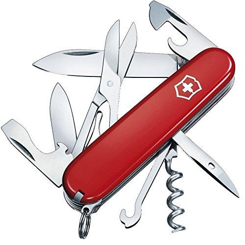 Victorinox Taschenmesser Climber (14 Funktionen, Schere, Mehrzweckhaken, Korkenzieher), rot
