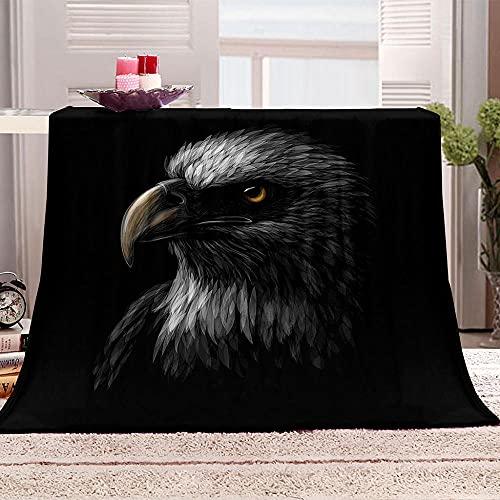xczxc Kaschmir Decke Schwarzer Adler Flanell Mikrofaser Sofa Decke Weich Wärme Tagesdecke Hohe Farbechtheit Und Kein Haarausfall 100x130cm