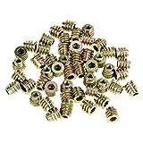 FTVOGUE - 50 tuercas de rosca interior hexagonales, tuercas de rosca M4 x 8 mm, de aleación de zinc, insertos roscados de rosca