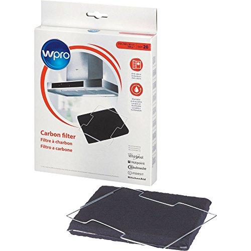 Wpro CFW020/1 – filtre en charbon pour hotte type de circulation d'air 020, Convient pour de nombreux modèles (notamment Ikea et Bauknecht)
