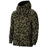 Nike Sportswear Tech Fleece Mens Full-Zip Printed Hoodie Cj5975-222 Size L