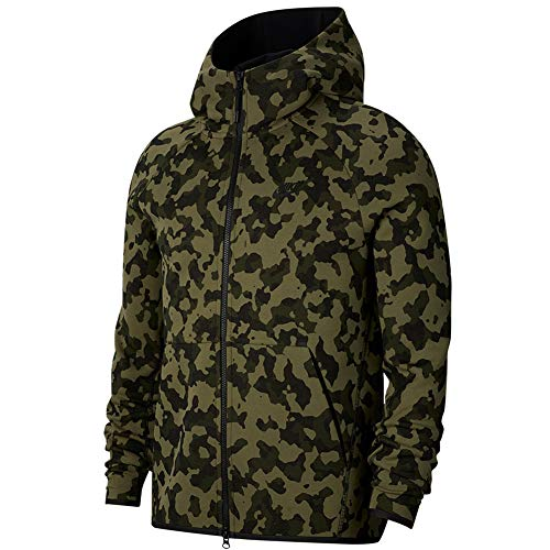 Desconocido Nike Sportswear Tech Fleece Jacke, Herren XL grün/schwarz (Medium Olive/Black)