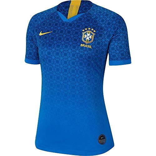 Nike 2019-2020 Brazil Away Womens Football Soccer T-Shirt Trikot