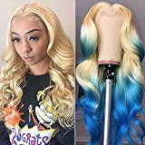 Glueless 613 Blonde Lace Front Wigs Human Hair with Baby Hair Middle Part Pre Plucked Peruvian Body Wave Lace Frontal Wig Can Be Dyed Honey Blonde Remy Lace Wigs For Women (16 inch, 13x1 body wave)