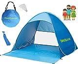 NRG CLEVER OT2PB Le de la Plage Tente extérieure, Protection Solaire Portable, avec FPU 50+ pour 2 ou 3 Personnes, Ouverture instantané Pop-up, Couleur Bleu, Cabana