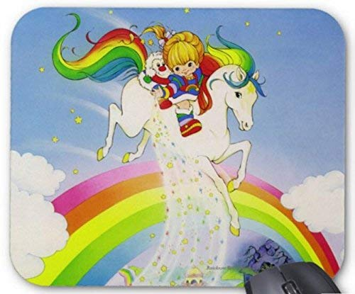 BGLKCS Rainbow Brite & Starlite Over Rainbow Mouse Pad Computer Accessories, Gaming Mouse Mat