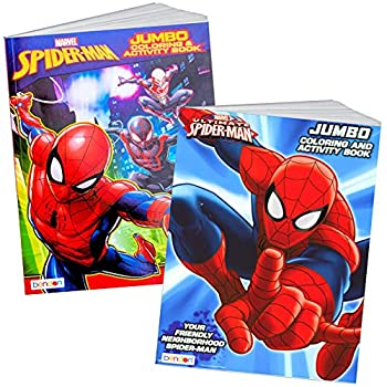 Spider-man Coloring & Activity Book Set  2 Books ~ 96 pgs each  by Marvel Comics