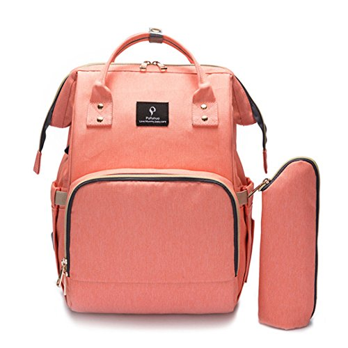 Bébé sac à langer avec interface USB grande capacité imperméable à l'eau sac Kits maman maternité voyage sac à dos d'allaitement sac à main orange