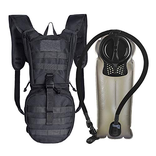 Unigear Tactical Hydration Pack Backpack 900D with 25L Bladder for Hiking Biking Running Walking and ClimbingBlack