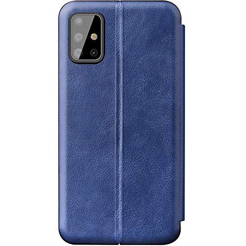 Spiegel hoes compatibel met Samsung Galaxy S20 Plus telefoonhoes leer ultradun etui flip clear view beschermhoes standfunctie krasbestendig wallet case volledige bescherming in de Samsung Galaxy S20 Plus, Samsung Galaxy S20 Plus (6,7 Zoll), blauw