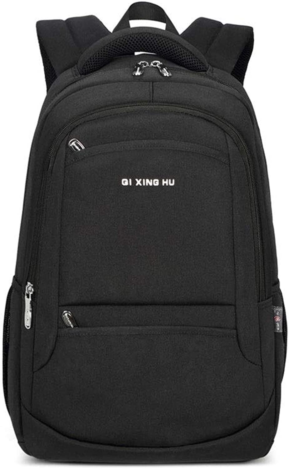 AnSuu Business Backpack Men's Backpack Business & Amp; Leisure Computer Large Capacity Outdoor Travel Bag (color   Black)