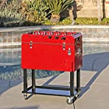 Best Patio Ice Chests - Clevr 68 Quart Qt Red Patio Cooler Ice Review