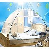 Cama doble de viaje Yurt mosquitera Mosquitera impregnada de cama para viajeros y excursionistas de interior y exterior, 150*200cm