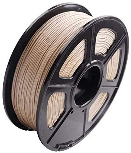 LXLH Filament de Bois de Filament d'imprimante 3D de PLA en Bois véritable 3D 1.75 Mm, pièces d'imprimante 3D de Filament de Bois de précision dimensionnelle de Bobine de 1KG