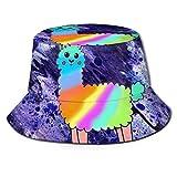 FJXXM Pinte el Sombrero del Pescador del Camello del Arco Iris, Sombreros del Sol del Cubo Plegables para la Pesca Que acampa al Aire Libre