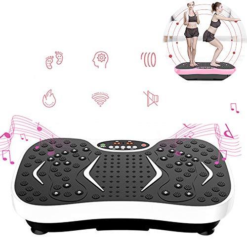 LKIHAH 3D Fitness Pedane Vibranti, Pannello di Comando Intelligente, bruciagrassi a 360 °, 3 Zone di frequenza, 99 frequenze,B