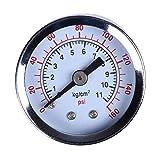 rongweiwang 0-160psi Atornille el Montaje de Manómetro probador del calibrador de presión del manómetro Aire Agua Gas Compresor hidráulico