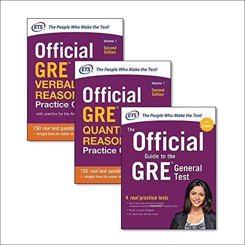 Official GRE super power pack: The official guide to GRE. General test-Official GRE quantitative reasoning. Practice questions-Official GRE verbal reasoning. Practice questions