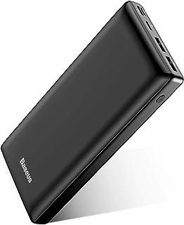 Baseus Power Bank 30000 mAh, Caricatore Portatile a 3 porte USB C Batteria Esterna Portatile per iPhone 11 Pro Max, iPad, ...