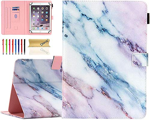 Universal 8.0 inch Tablet Case, Dteck Stand Folio Flip Wallet Case for iPad Mini 7.9'/ Galaxy Tab 8.0 /Fire HD 8/ Nextbook Tagital/Dell/HP/LG G Pad and More All 7.5-8.5 inch, Marble