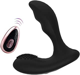 Wireless Vibration Massager for Men - Remote Control Wand Massager - 10 Powerful Vibration Modes - Portable Handheld Stimulator Massager Tool