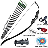 D&Q Archery Bow and Arrow for Teens Adults Beginner Takedown Bow 30 40Lbs Left and Right Hand Recurve Bow Set Outdoor Training Target Practice (Bow and Arrows 40Lbs)