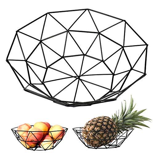 SANTOO Cesta de frutas de metal, Cesta de frutas de hierro Cesta de verduras Escurridor de cesta Para la sala de estar en casa plato de frutac