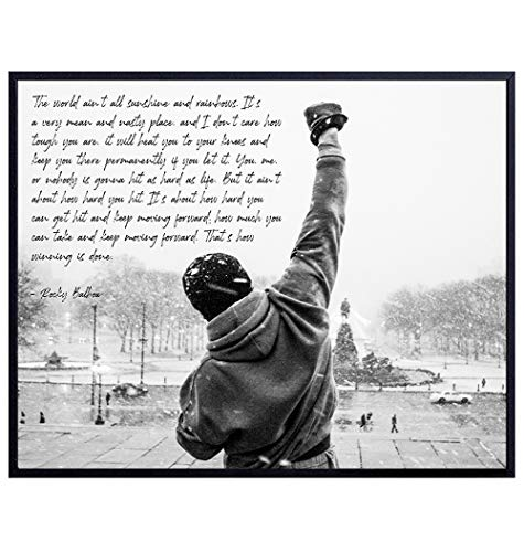 Rocky Balboa Quote - Unframed Wall Art Print - Perfect for Office and Home Decor - Makes a Great Affordable Gift - Inspirational and Motivational - Ready to Frame Photo (8X10)