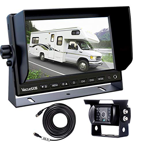 "Backup Camera for Trucks, Two Installation Methods, No Interference, No Delay, 7"" Wide Screen and Night Vision IP68 Waterproof Backup Camera for Box Truck, Bus, Caravan, Camper Van, Boat, Yacht"