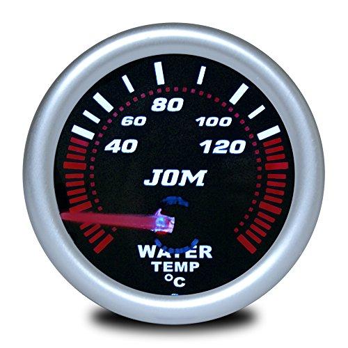 JOM Car Parts & Car Hifi GmbH 21116S Manomètre, température d'eau, Aspect Miroir Noir
