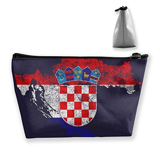 Kroatië Vlag en kaart Kroatische Pride Potlood Case Tas Rits Tas Munttas Make-up Tas Buidelzak Grote Capaciteit Pen Houders voor Kinderen School Kids Jongens Meisjes Vrouwen Gift