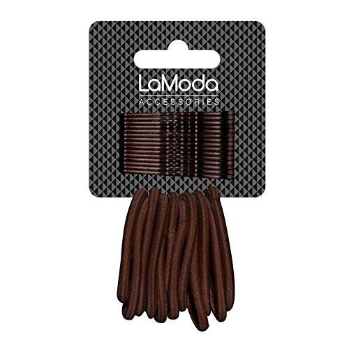 Lamoda per capelli elastica e comoda impugnatura Ponytailers per Mid Brown/Dark Hair Multipack di 15hair-grips e 12Ponytailers