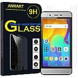 ANNART - Protector de pantalla para Micromax Vdeo 2 de 4,5 pulgadas [1 unidad] Protector de pantalla de cristal templado para Micromax Vdeo 2 4.5' Q4101 – Transparente