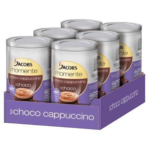 Jacobs Moment Choco Cappuccino, Kaffee mit Schokolade, 6Dosen x 500g, 25339