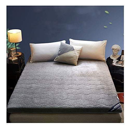 WENYAO gewatteerde warme lam kasjmier Tatami vloer matras, opvouwbare gewatteerde Futon matrassen enkele dubbele antislip matras topper beschermer matras - 150x200 cm (59x78 inch)