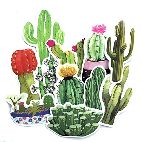 71PCS Cute Succulent Plants Stickers Set 40mm Mini Potting Cactus Seal Sticker for DIY Journal Album Frame Decoration Kids Gift