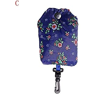 Xshuai® Foldable Handbag, Portable Women Foldable Reusable Nylon Eco Handbag Storage Travel Shopping Tote Grocery Bags (C)