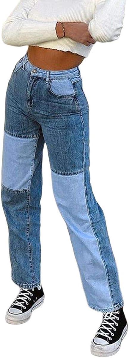 New product! New type Kosusanill Special sale item Girls Women High Waist Heart Jeans Leg Straight Print