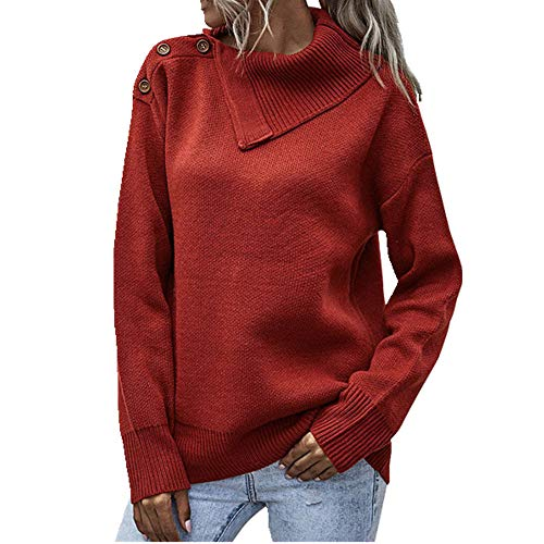 N\P Mujer Suéteres Jersey Mujeres Cuello Alto Manga Larga