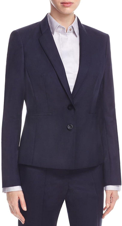 BOSS Hugo Boss Womens Pinstripe Double Button Blazer