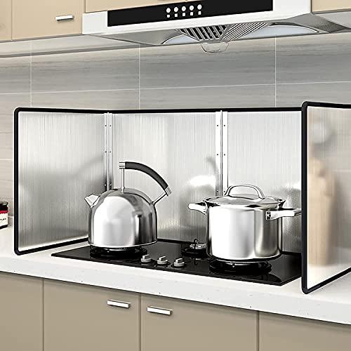 Antisalpicaduras Cocina Protector Salpicaduras Cocina Cubierta a prueba de escaldaduras de acero inoxidable, sartén de cocina para cocinar, cubierta de estufa de gas para salpicaduras de aceite, prot