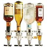Il dispenser per vino a 4 bottiglie consente di erogare facilmente 4 diversi tipi di liquori con una valvola, misurarli e mescolarli e la valvola può prevenire sprechi o fuoriuscite Il dispenser per bevande a parete per cocktail, casa, feste in costu...